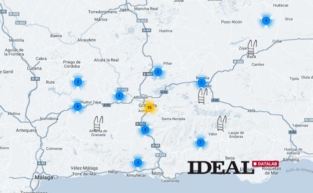 El mapa con todas las piscinas p blicas de la provincia de for Piscina publica alhendin granada