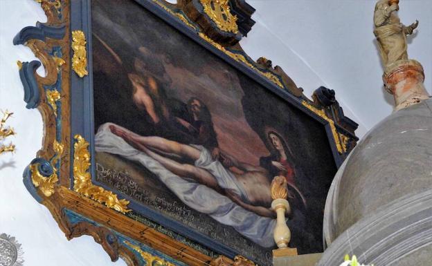 Recolectan dinero para sufragar los gastos de la restauración de una pintura de la iglesia de Dúrcal