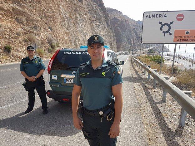 Miguel José Ortega Soria, en primer plano, junto a su compañero, José Alberto Díaz Bullido.