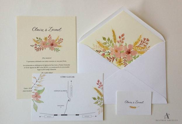 Invitaciones de boda lo hecho a mano Ideal