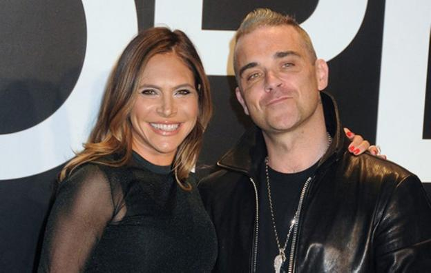 Ayda Field y Robbie Williams./