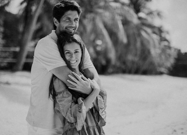 Verdasco y Ana Boyer./