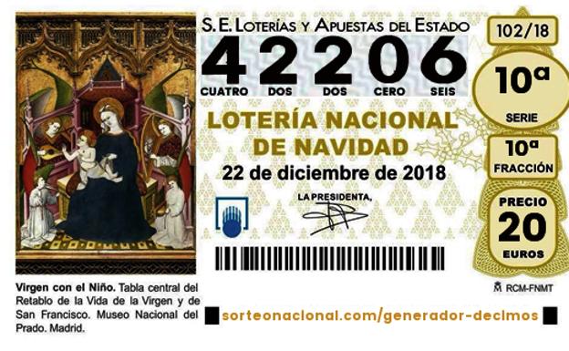 El 42206, cuarto premio del sorteo de la Lotería de Navidad ...