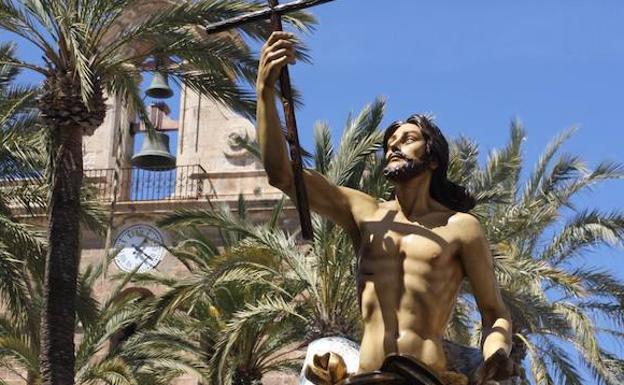 Jesús Resucitado, junto a la Catedral de Almería./IDEAL