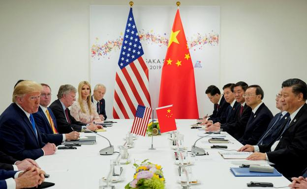 Reunión bilateral EE UU-China. /Reuters
