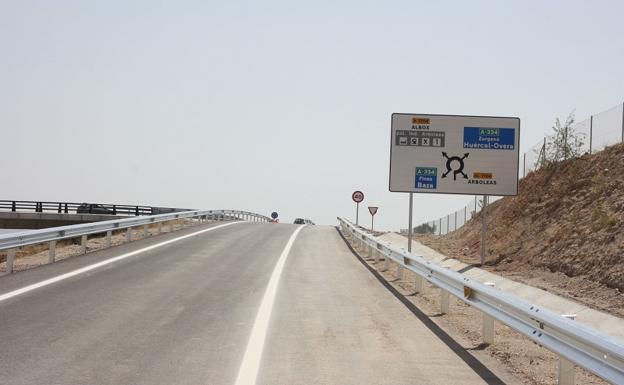 Las obras de la autovía del Almanzora se reanudarán este mes
