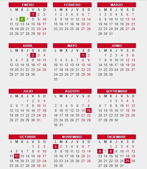 Calendario Laboral 2021: los doce festivos nacionales, puentes y fiestas  autonómicas | Ideal