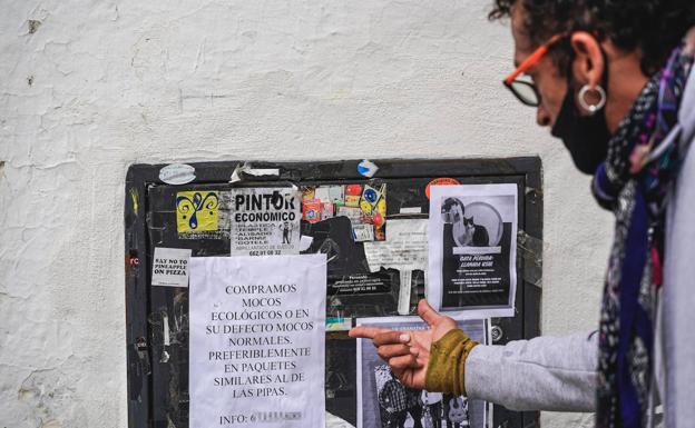 El anuncio de la compra de mocos, en Calle del Agua.
