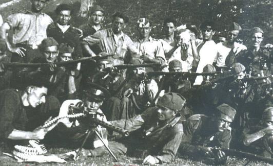 Maquis de la agurpación guerrillera de Granada en la sierra, en 1948./