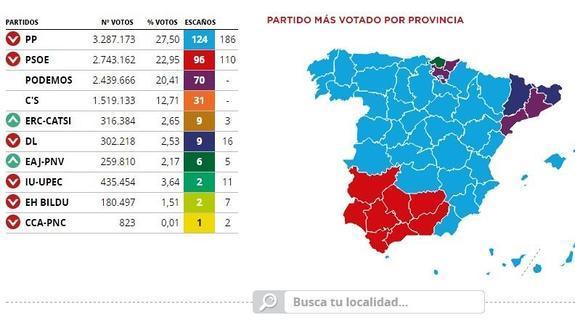 Mapa De Elecciones 2015.Elecciones Generales 20d En Directo Resultados Votos