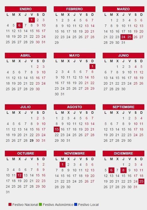 Calendario Completo.Calendario Laboral Completo De 2016 Semana Santa Dias